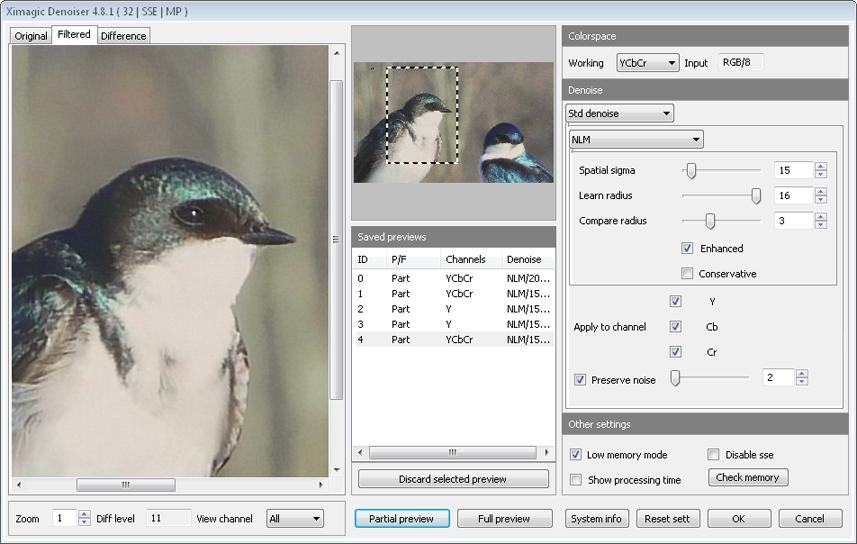 Ximagic Denoiser for Windows (x64 bit) screenshot
