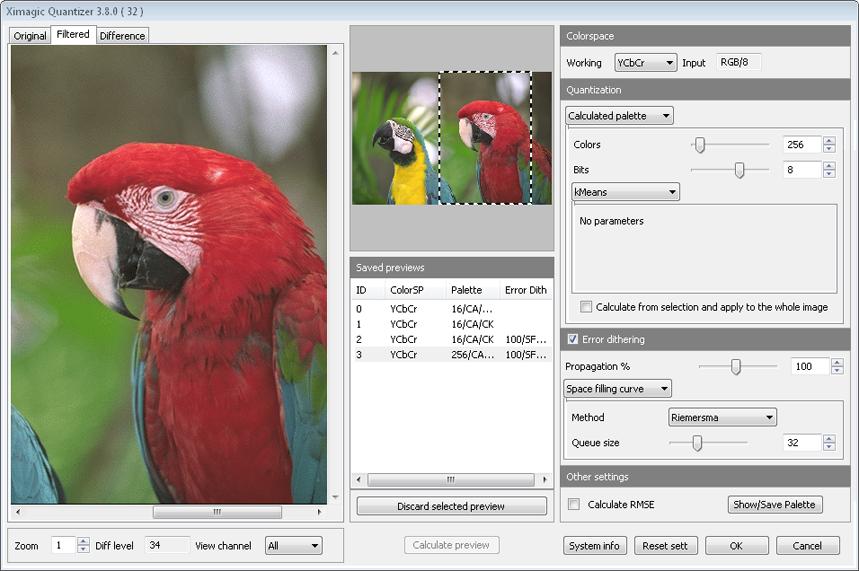 Ximagic Quantizer for Mac OS X full screenshot
